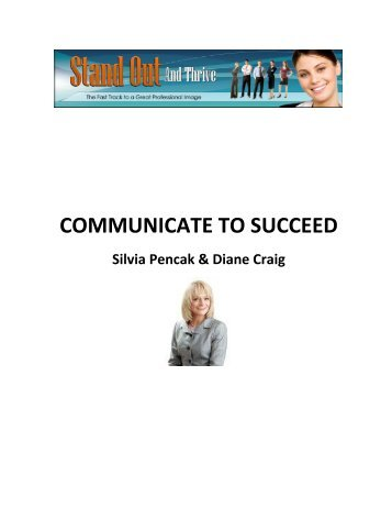 2 Communicate to Succeed - Stand Out And Thrive
