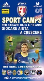 jesolo - folgaria - s. zeno di montagna - verona - Sport Camp Italia