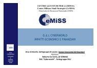 Impatti economici e finanziari - Ministero della Difesa