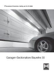 Garagen-Sectionaltore Baureihe 30 - Effertz GmbH