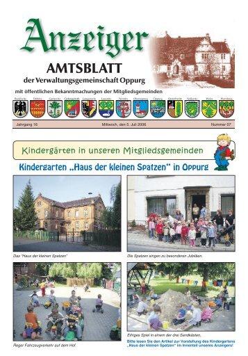 Amtsblatt 07 - Verwaltungsgemeinschaft Oppurg