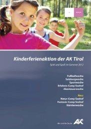 Kinderferienaktion der AK Tirol