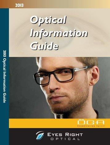 2013 Optical Information Guide - New Zealand Optics