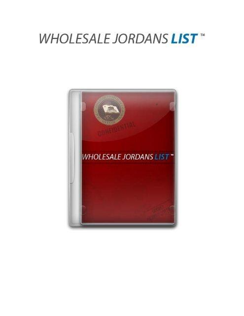 Wholesale Jordans List