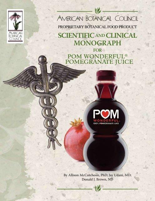 Monograph for POM Wonderful Pomegranate