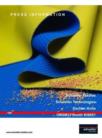 P R E S S   I N F O R M A T I O N Schoeller Textiles ... - GoExpo