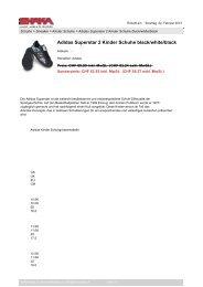 Babolat Schuhgrößen Wilson Schuhgrößen adidas Schuhgrößen