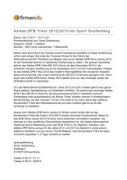 Adidas DFB Trikot 2012/2013 bei Sport Greifenberg - Firmendb