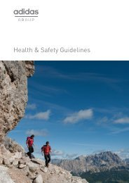Health & Safety Guidelines - adidas Group