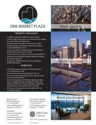 One Market Plaza's Tenant Handbook