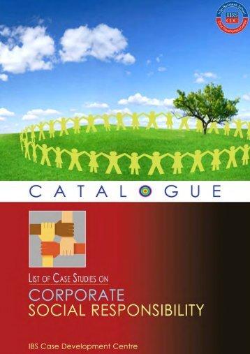 Corporate Social Responsibility CSR Case Studies Catalogues