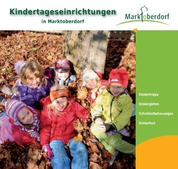 Kindertageseinrichtungen - Stadt Marktoberdorf