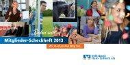Mitgliederscheckheft 2013 - Volksbank Flein-Talheim eG