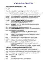 Curriculum Vitae - Institut für Sozialwissenschaften - Christian ...