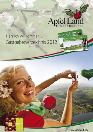 Gastgeberverzeichnis 2012 - Apfelland Stubenbergsee Tourismus