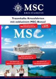 MSC BonuS - Kreuzfahrten-Sonderpreise.de