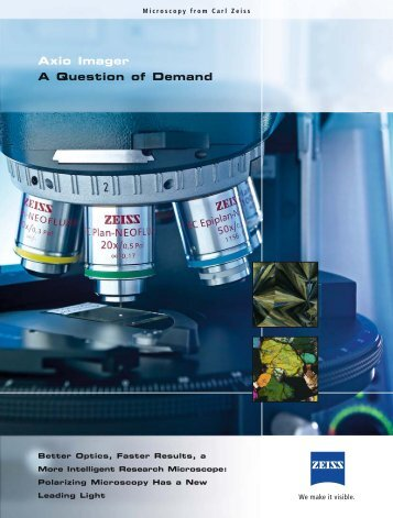 Axio Imager A Question of Demand - Hitech Instruments