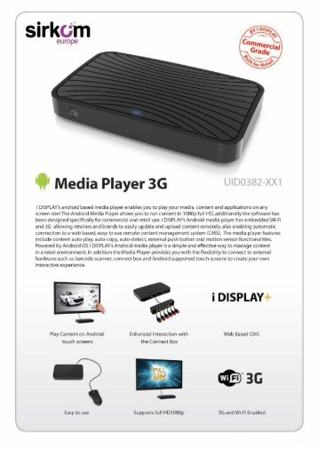 Android Media Player 1080p Brochure - Sirkom
