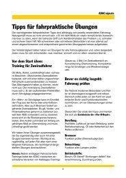 Tipps für fahrpraktische Übungen - ADAC