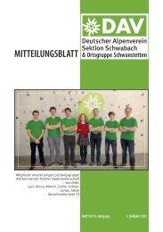 Mitteilungsblatt - DAV Sektion Schwabach