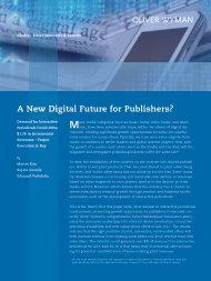 A New Digital Future for Publishers? - Sabatier Consulting