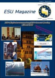 ESU-Mitgliederversammlung/ESU-General Meeting Lübeck 2008