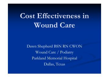 Cost Effectiveness in Wound Care - Healthcare Professionals