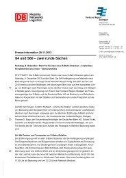 S4 und S60 – zwei runde Sachen - Verband Region Stuttgart