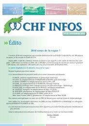 CHF INFOS - novembre 2010 - Centre Hospitalier de Fougeres