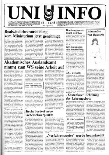 Nr. 13-14 / SEPTEMBER 1981