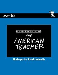 The MetLife Survey of Challenges for School Leadership