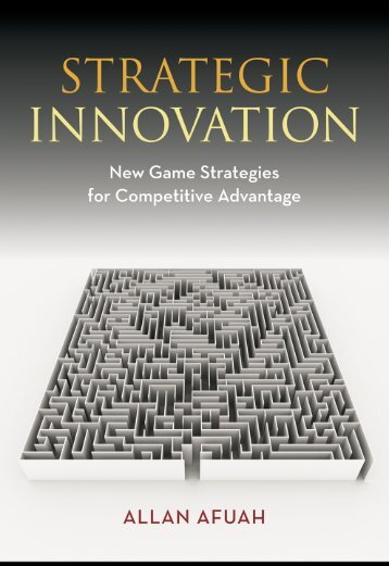 Strategic Innovation: New Game Strategies for Competitive ... - PSBM