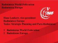 Badminton Development Structure - World Squash Federation