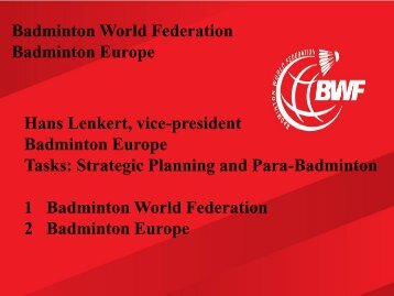 Badminton Development Structure - World Squash Federation