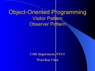 Object-Oriented Programming Visitor Pattern Observer Pattern