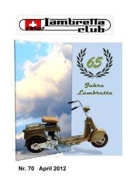 Jahre Lambretta - im Swiss Lambretta Club