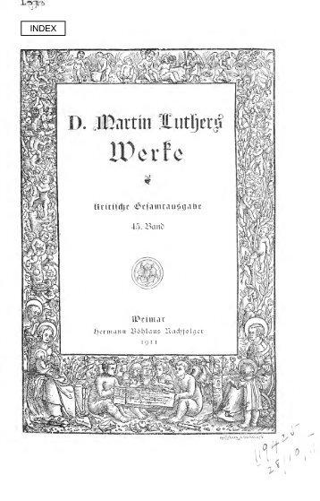 Predigten 1537 und Predigtkompilationen (30er ... - Maarten Luther