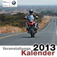 Veranstaltungskalender 2013 - BMW Motorrad Leinetal Einbeck
