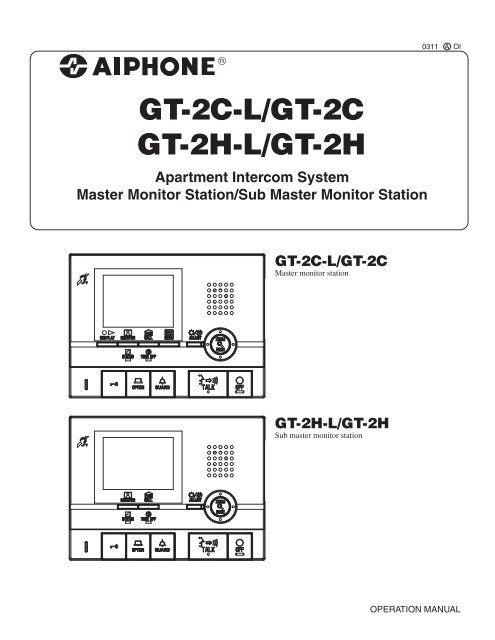 Gt 2c Operation Manual Aiphone