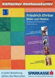 Friedrich Ehrbar - Stadtgemeinde Köflach