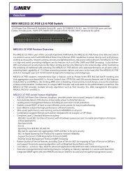 MRV MR2252-2C-POE L2/4 POE Switch - MRV Communications