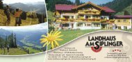 Download Hausprospekt - Landhaus Am Siplinger