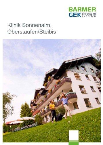 Klinik Sonnenalm - Oberstaufen/Steibis ( PDF , 285 KB ) - Barmer GEK