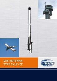 VHF ANTENNA: TYPE CXL2-2C - Jotron