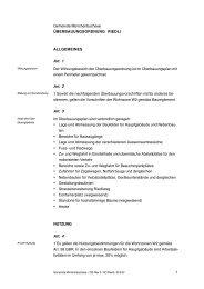 Überbauungsordnung UeO Riedli - Gemeinde Münchenbuchsee