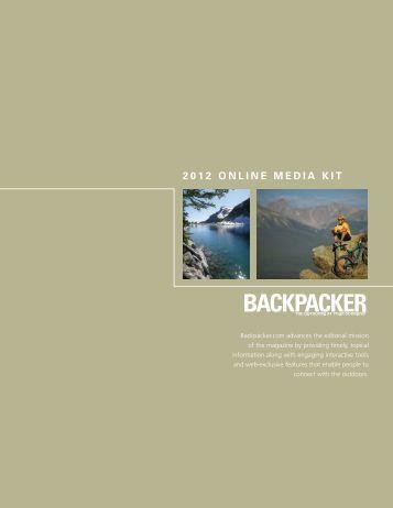 2012 ONLINE MEDIA KIT - Backpacker Magazine