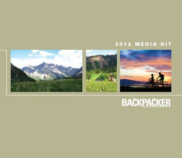 2012 media kit - Backpacker Magazine
