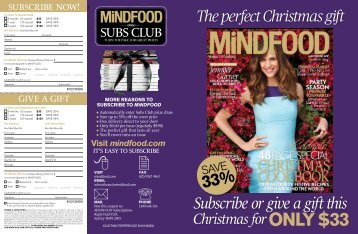 to download subscription coupon & prize - MiNDFOOD