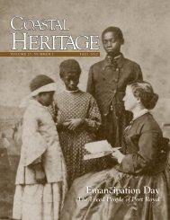 Coastal Heritage magazine - Fall 2012 - SC Sea Grant Consortium