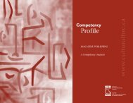MAGAZINE PUBLISHING - Competency Profile © Cultural Human